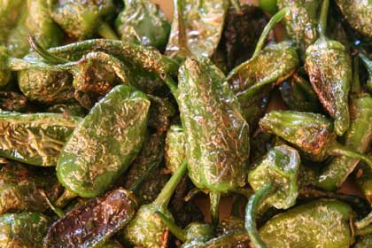 """Pimientos de Padron , """"some are spicy, some are not"""". They are ..."""