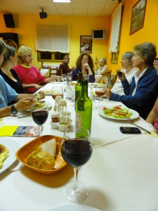 Good moments at the Camino the Santiago dinners --