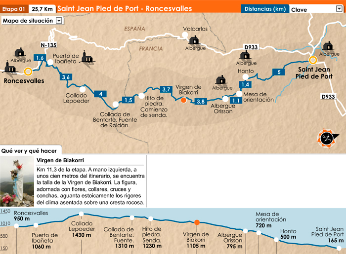 Day 1 saint jean pied de port to roncesvalles creative travel - St jean pied de port to roncesvalles ...