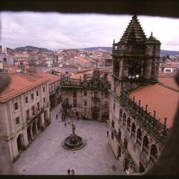 Santiago de Compostela from the sky